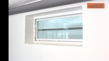 Feste Sicherungsstange für die Aussenlaibung am Fenster als Einbruchschutz