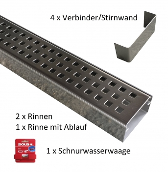 Sehr TROBAK - Rosthaken für Entwässerungsrinne superflach DE62