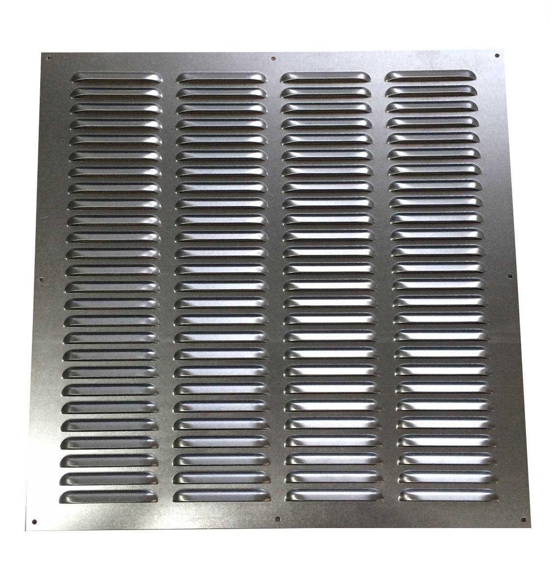 trobak - metalllüftungsgitter verzinkt 500 x 500 mm