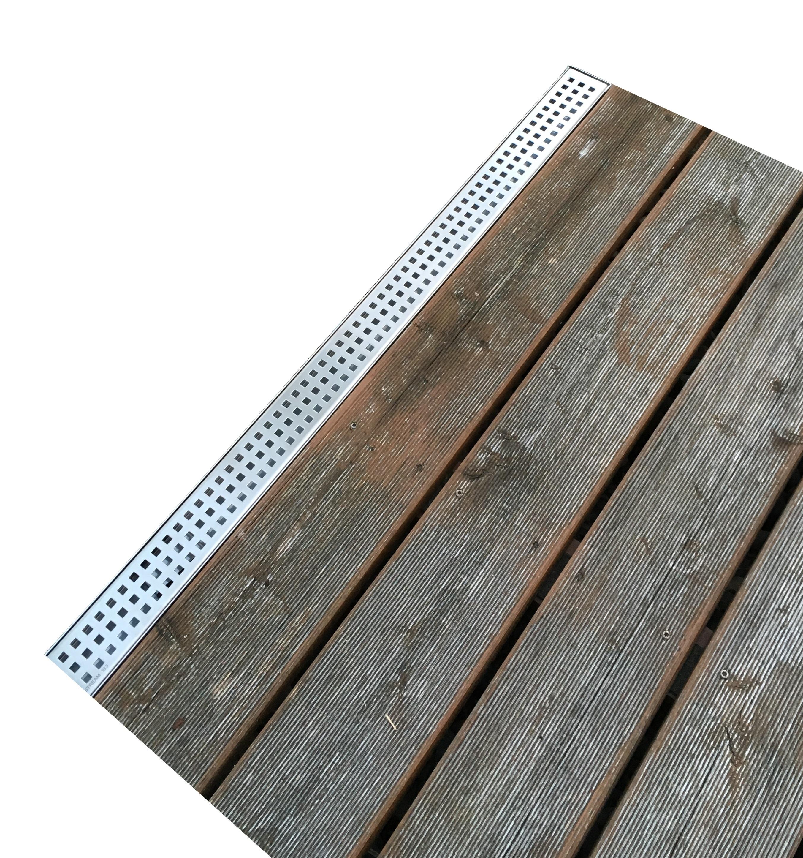 Trobak Set 6 X Entwasserungsrinne Edelstahl 1 Meter Superflach V2a