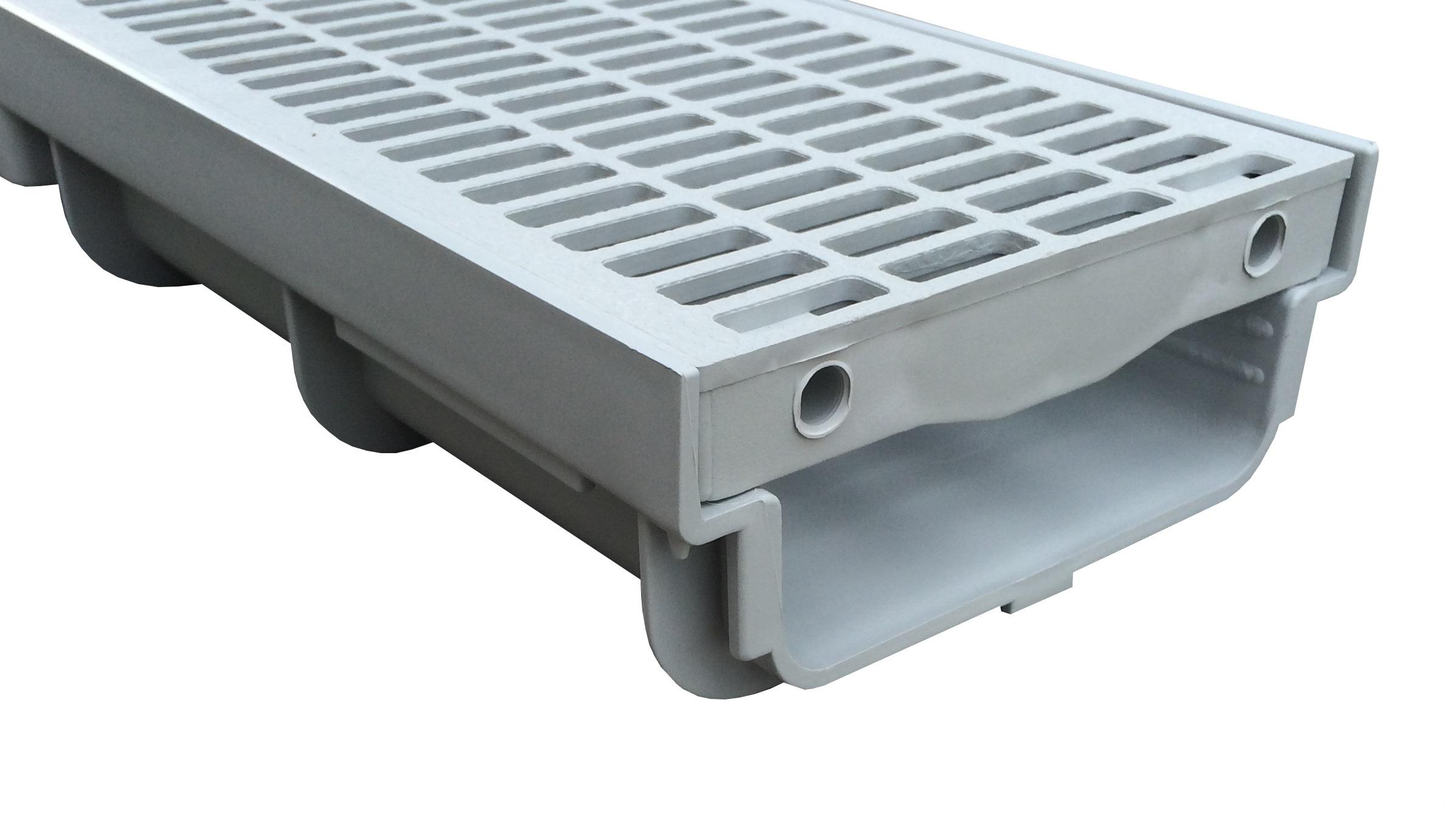 Super TROBAK - begehbare Entwässerungsrinne Grau 0,5 Meter Bauhöhe 6cm LM72