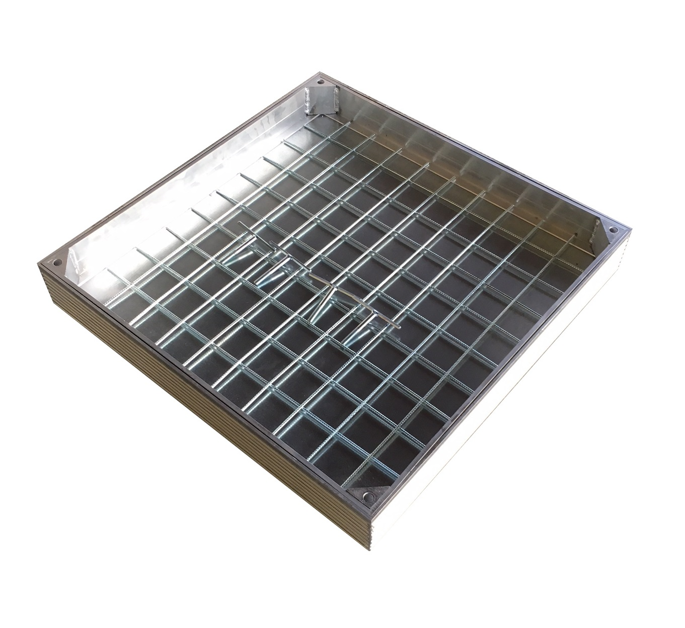 TROBAK - Schachtdeckel Aluminium auspflasterbar 70 x 70 cm PKW befahrbar