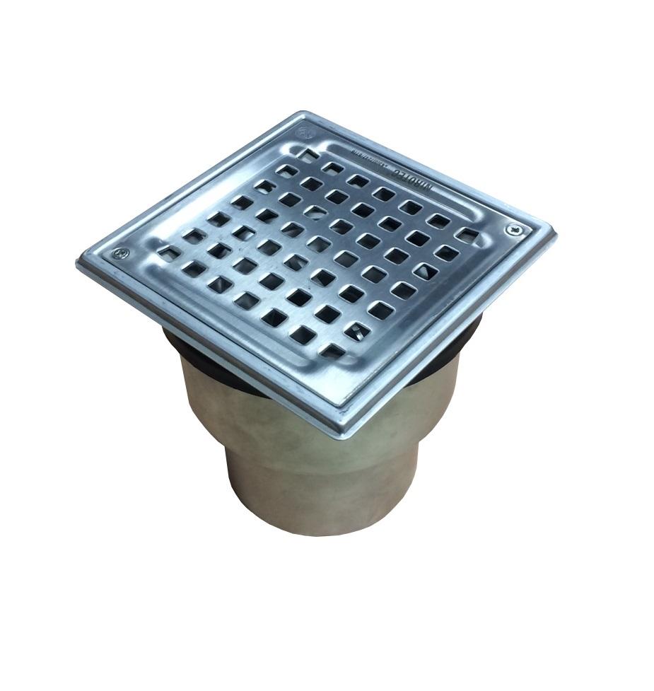 trobak - sanitärablauf, kellerablauf edelstahl stutzen senkrecht dn 75