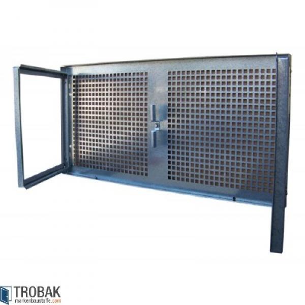 trobak stahlkellerfenster 2 fl glig festes gitter 120 x 40 cm. Black Bedroom Furniture Sets. Home Design Ideas
