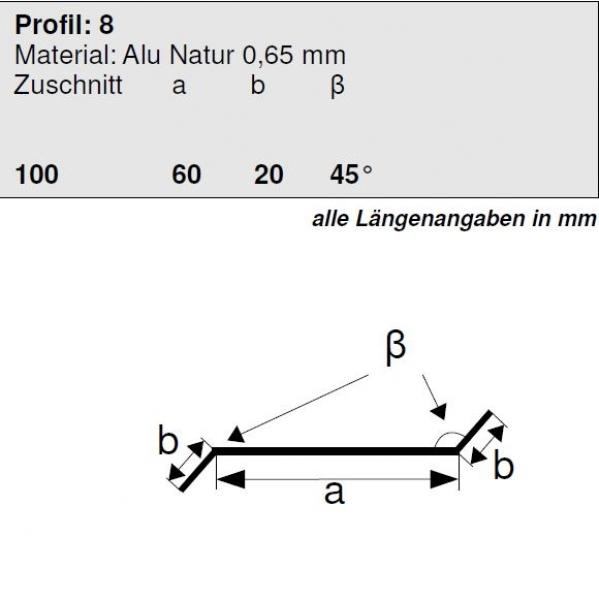 trobak aluminium z profil 20 60 20 45 grad kanten l nge 2 meter hg 8. Black Bedroom Furniture Sets. Home Design Ideas